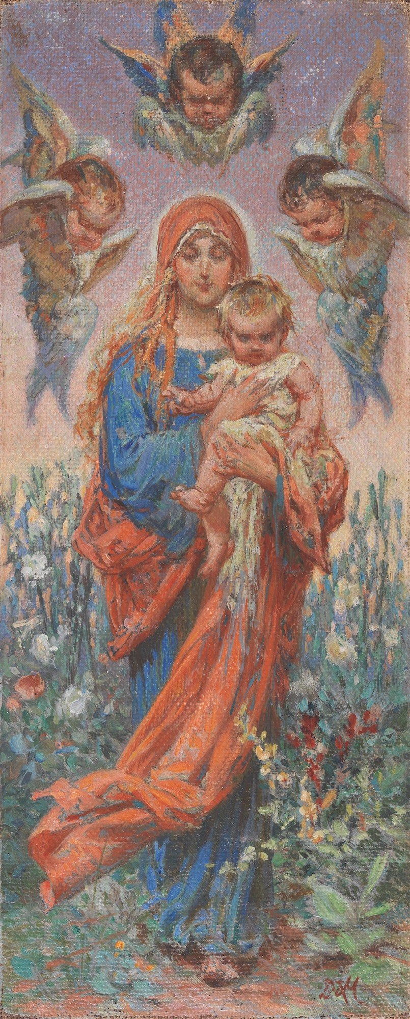 Lot 26 Dimitrios BISKINIS | The Virgin Mary and young Jesus
